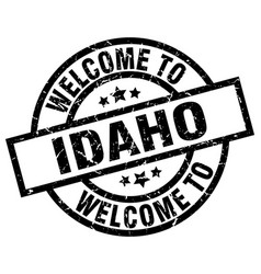 Welcome to idaho black stamp vector