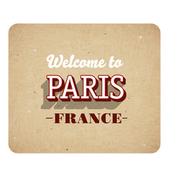 welcome to paris vector image