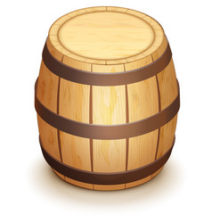 wooden oak barrel for wine stand vertically vector image