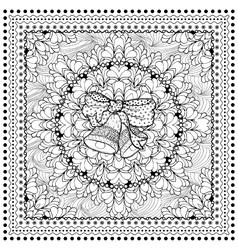 Black mono color for Merry vector image vector image