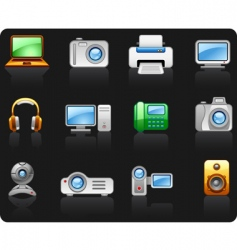 electronics computers multimedia vector image