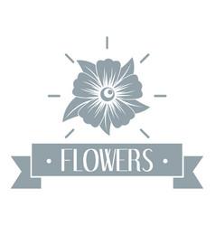 flower garden logo simple gray style vector image vector image