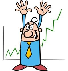 happy businessman cartoon vector image vector image