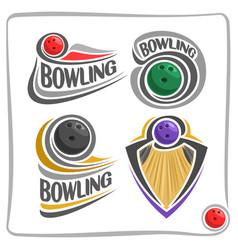 Logo bowling ball vector