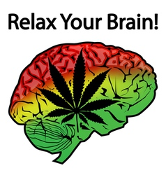 Relax Your Brain vector image