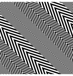 Abstract Black and White Herringbone Fabric Style vector image vector image