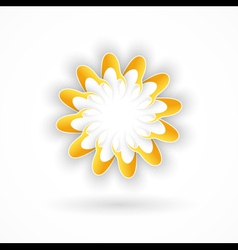 Abstract flower vector image vector image