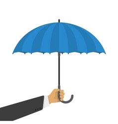 an umbrella in hand vector image