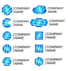 modern programmers developers technical logos set vector image vector image