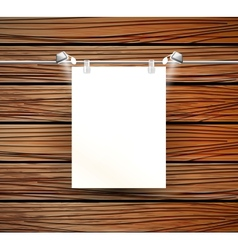 place for poster and wooden wall vector image