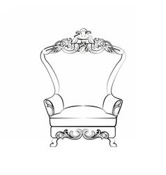 Classic royal armchair vector