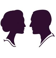 Couple profile vector