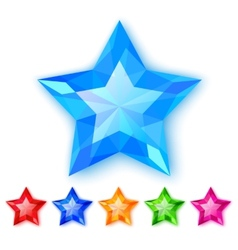 Set of crystal stars vector image vector image