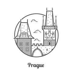 travel prague icon vector image vector image
