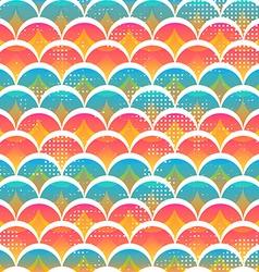 funny circle seamless pattern vector image