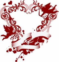 heart and cupid icon vector image