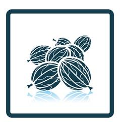 Icon of gooseberry vector