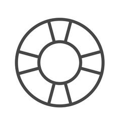 lifebuoy thin line icon vector image vector image