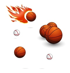 sport balls sign set vector image