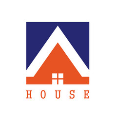 square house logo vector image