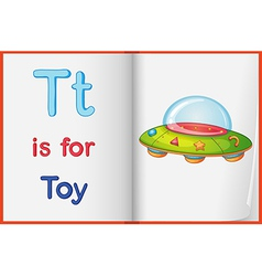 A picture of toy on book vector