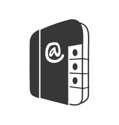 Agend phone book contact number icon vector