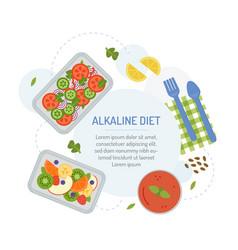 Alkaline diet meal plan vector