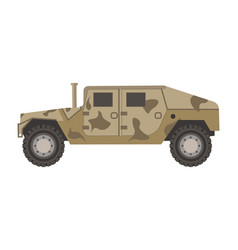 Armored military vehicle with c vector