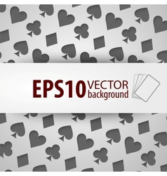 Background with different playing card symbols vector
