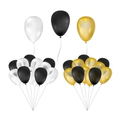 Balloons on white background vector