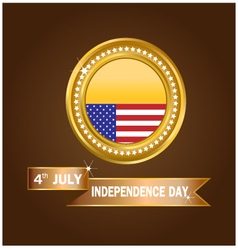 Banner American Independence Day vector image