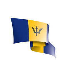 barbados flag on a white vector image