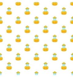 Beekeeper pattern cartoon style vector