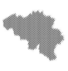Belgium map population demographics vector