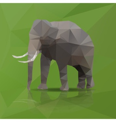 big elephant from triangles eps10 vector image