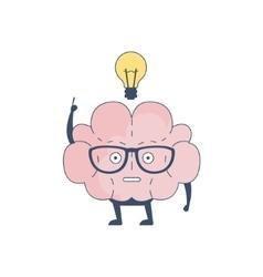 Brain Has And Idea Comic Character Representing vector