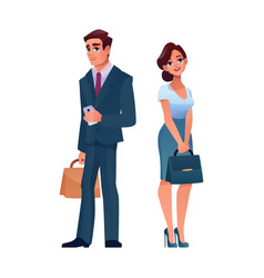 business people stylish mature man and woman vector image