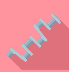 car crankshaft icon flat style vector image