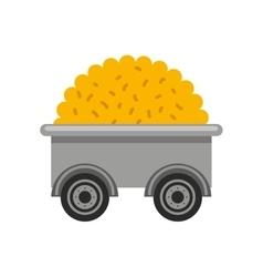Cart farm wagon icon vector