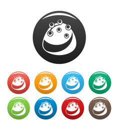 chocolate candy icons set color vector image