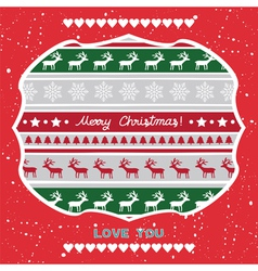 Christmas greeting card60 vector image