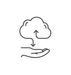 Cloud services line icon concept cloud services vector