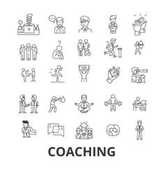Coaching sport coach mentor coach bus life vector