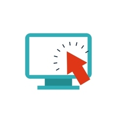 computer desktop monitor with seo icon vector image