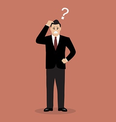 Confused businessman vector image