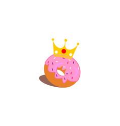 crown donut logo vector image