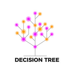 Decision tree icon vector