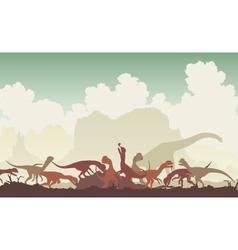 Dinosaur feast vector