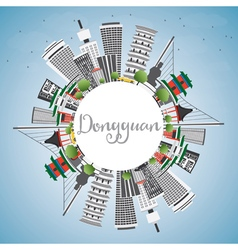 Dongguan Skyline with Gray Buildings vector