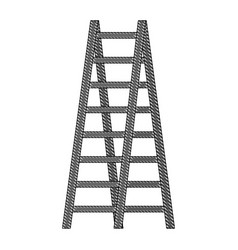 double ladder equipment tool icon vector image